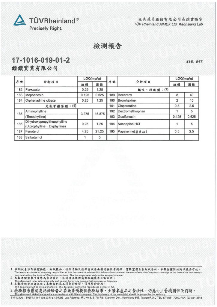 鱘寶家-鱘龍魚保健食品相關檢驗報告 6
