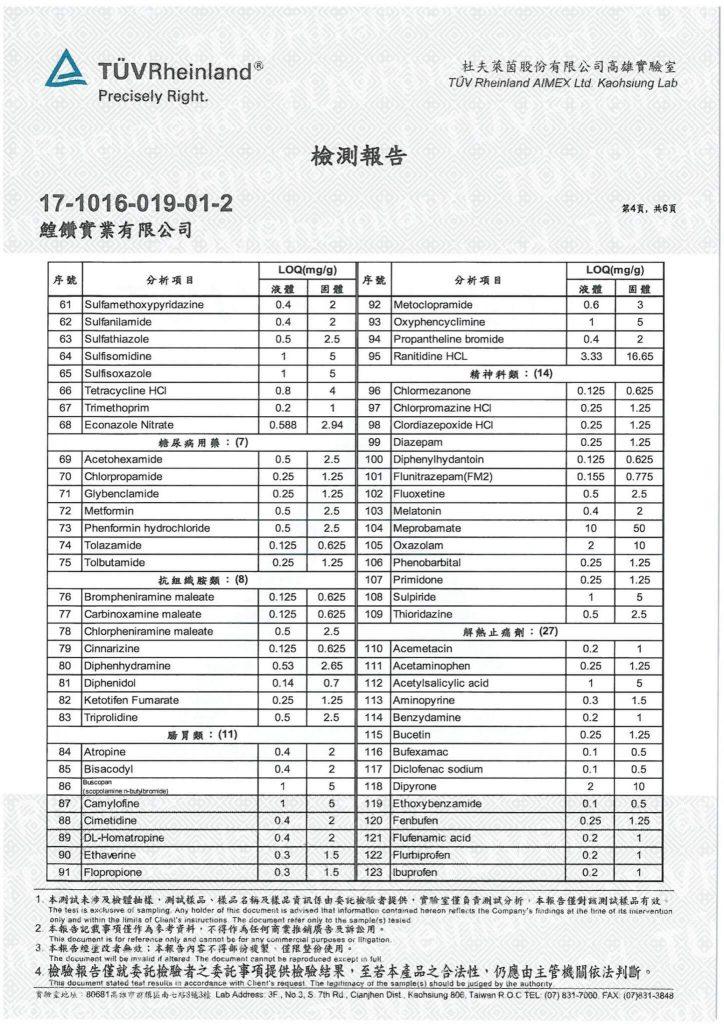 鱘寶家-鱘龍魚保健食品相關檢驗報告 9